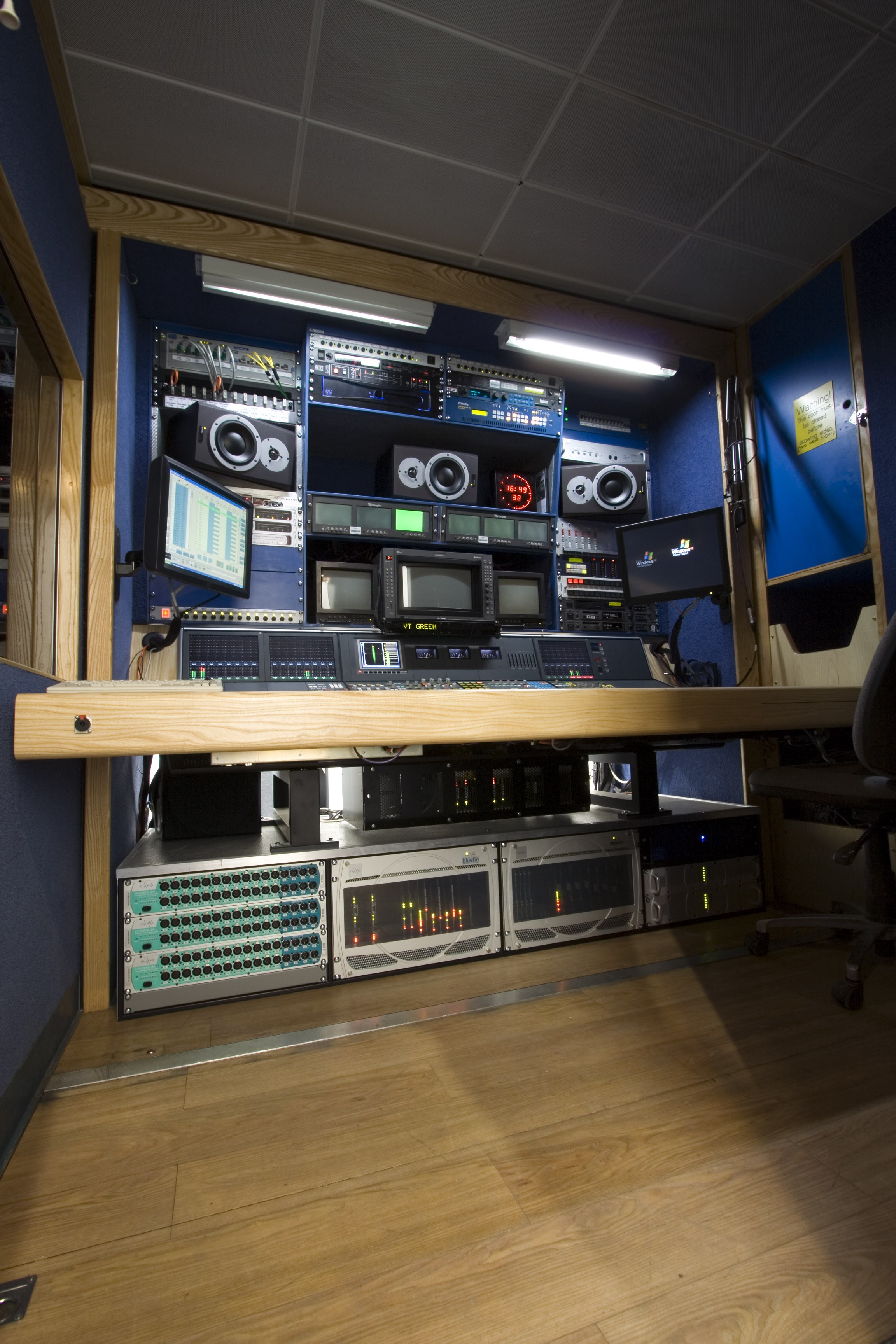 OB Truck Photos 5.jpg - Sound Control Room, OB Production Trailer, Ely, Cambridgeshire, UK, April 2008